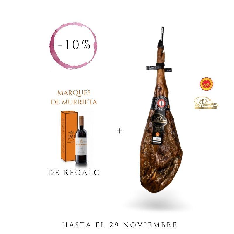 JAMÓN DE BELLOTA 100% IBÉRICO DOP LOS PEDROCHES | 7,5-8 kg + VINO DE REGALO