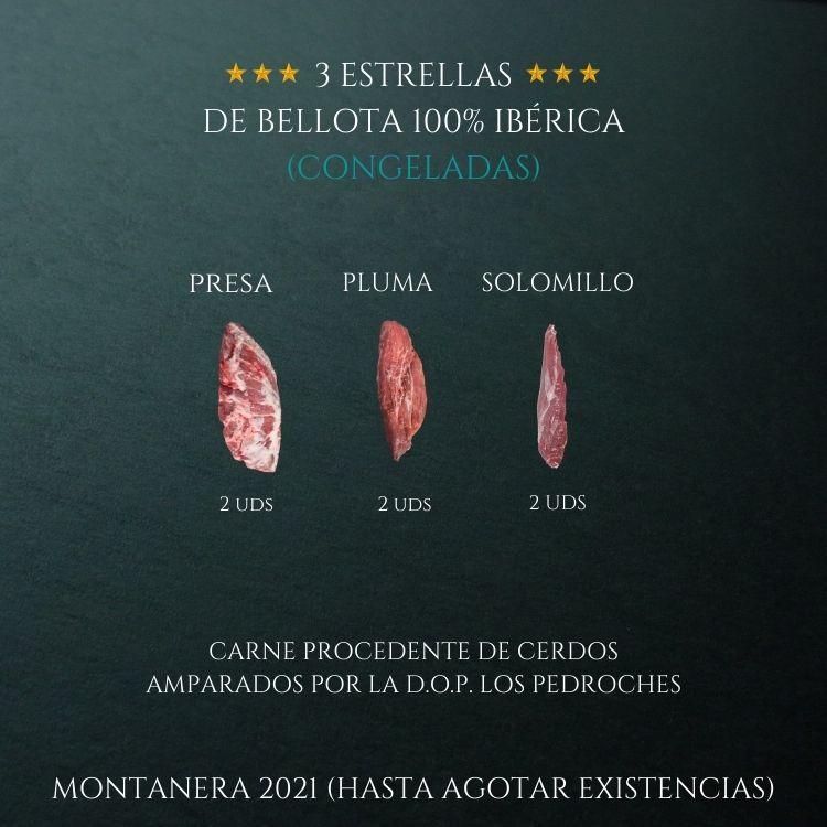 3 ESTRELLAS DE BELLOTA 100% IBÉRICA (CONG)