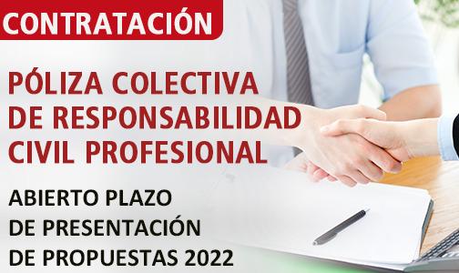 Septiembre 2021. Abierto el plazo de presentación de propuestas para la contratación de la póliza de RCP colectiva
