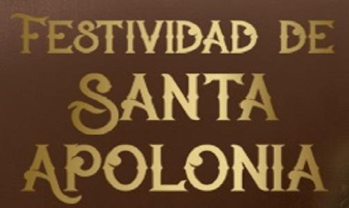 Enero 2021. Celebramos Santa Apolonia el próximo 13 de febrero ¡No faltes!