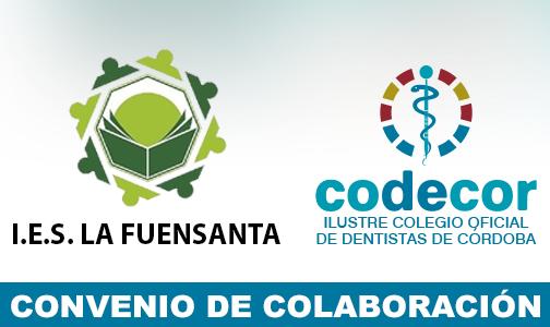 """Febrero 2020. El Colegio de Dentistas de Córdoba y el Instituto de F.P. """"IES La Fuensanta"""" se unen en beneficio de los futuros Higienistas Dentales"""