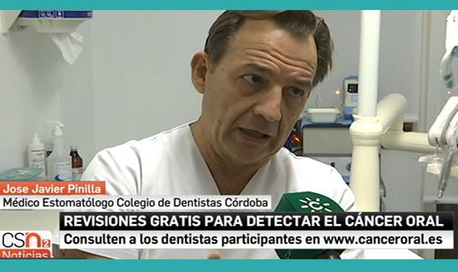 El Dr. Pinilla habla sobre el cáncer oral en Canal Sur Noticias