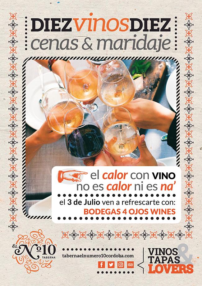 Cena&Maridaje del verano! 10 vinos 10