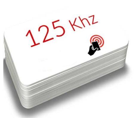 TARJETA DE PVC BLANCA CON TECNOLOGíA RFID O DE PROXIMIDAD. BAJA FRECUENCIA (125 KHZ)