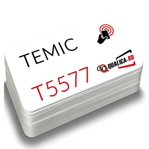 TARJETA BLANCA DE 125KHZ CON CHIP TEMIC 5577