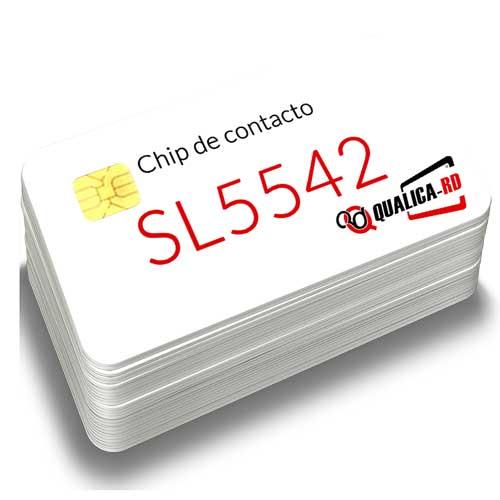 TARJETA BLANCA CON CHIP DE CONTACTO 5542
