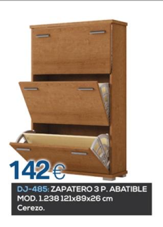 ZAPATERO 3 PUERTAS ABATIBLE