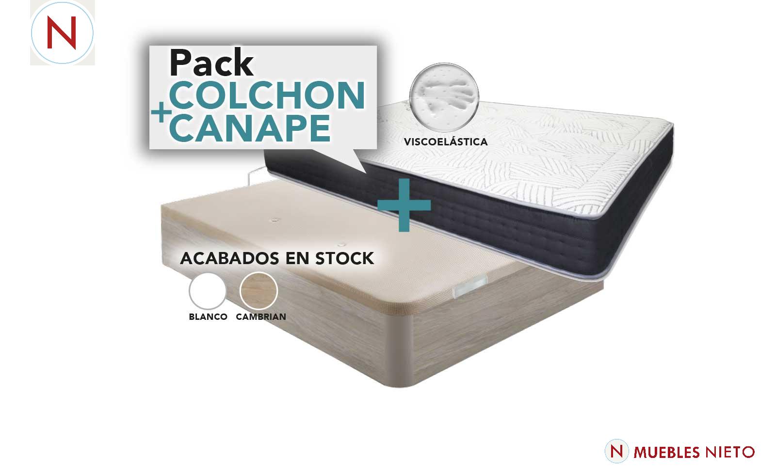 PACK COLCHON + CANAPE OFERTA