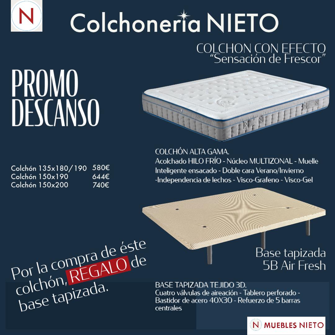COLCHON THERMO FRESH ICE 150x190 + REGALO BASE TAP...