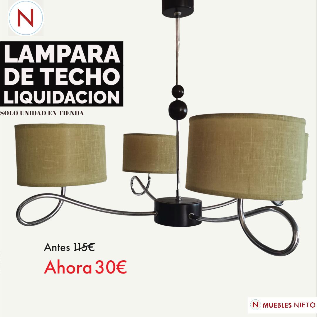 LAMPARA DE TECHO EN LIQUIDACIÓN