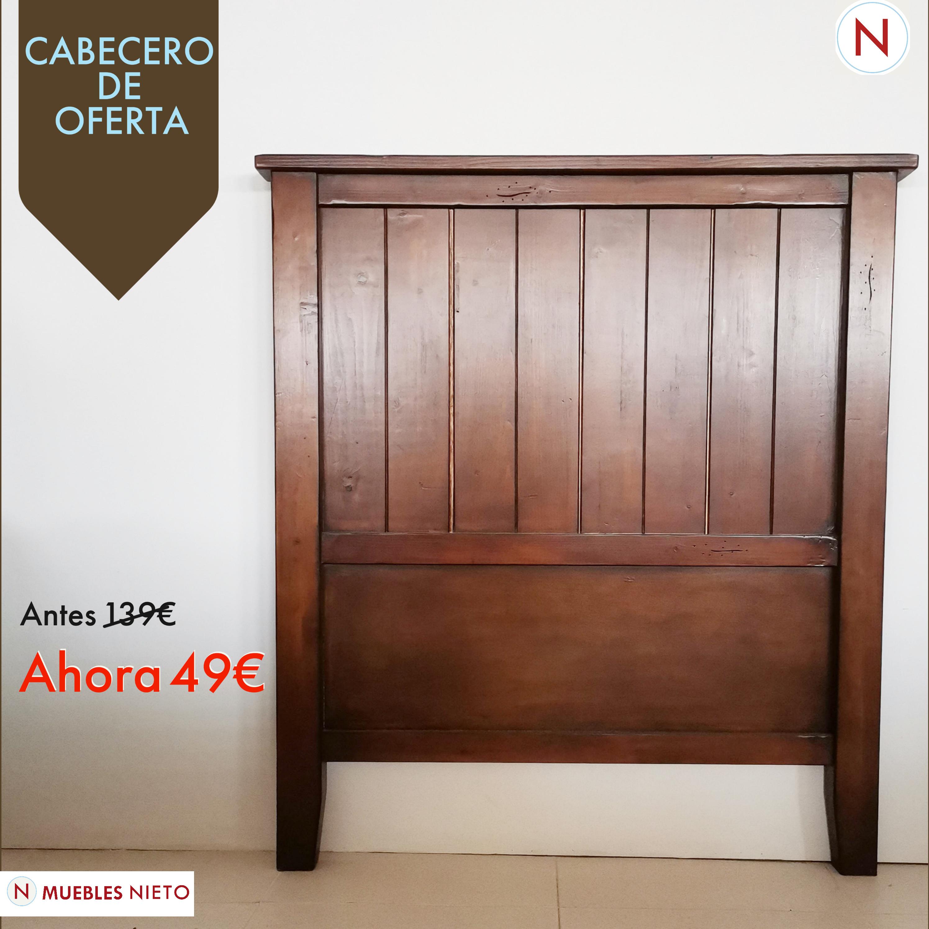 CABECERO MADERA 90CM