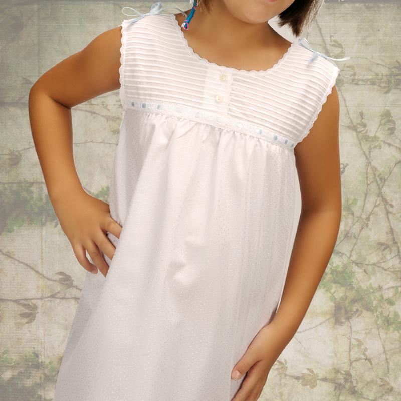 Camisón de niña blanco. Modelo Mulan